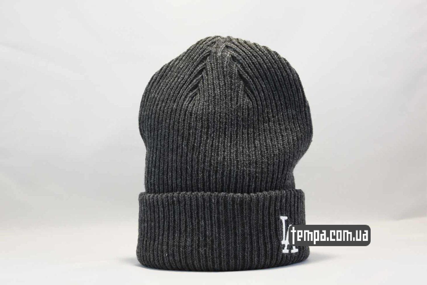 шапка beanie LA Los Angeles New Era серая