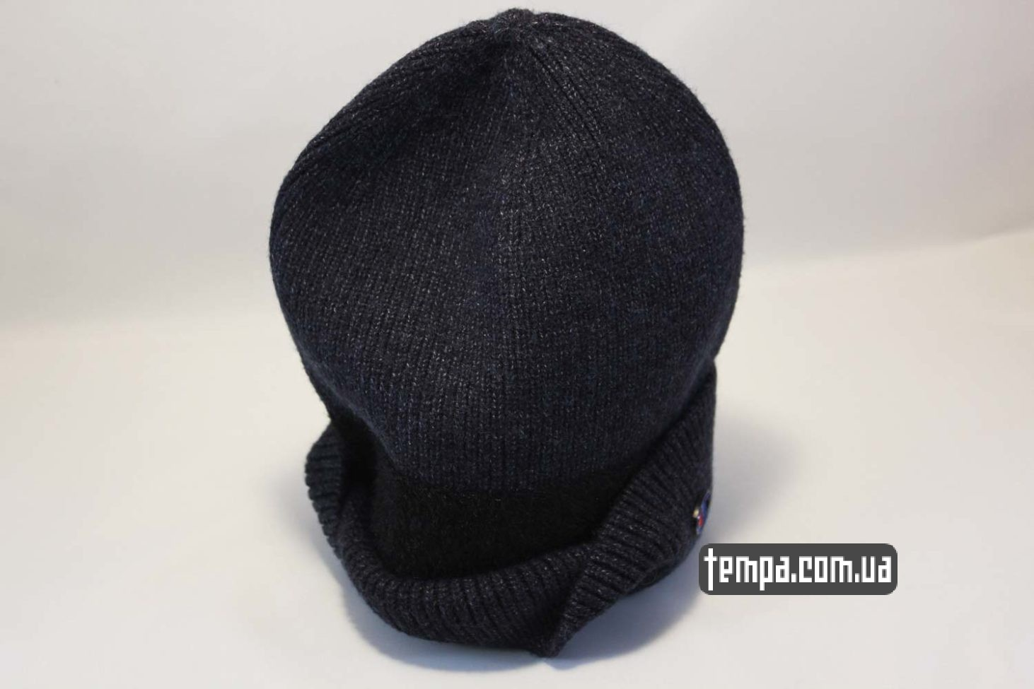 шерстяная мягкая прокладка шапка beanie Champion black черная купить Украина