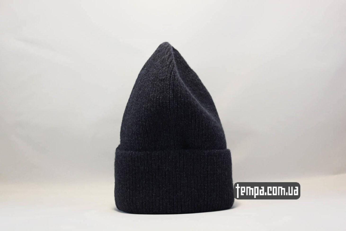 теплая шерстяная зимняя шапка beanie Champion black черная купить Украина