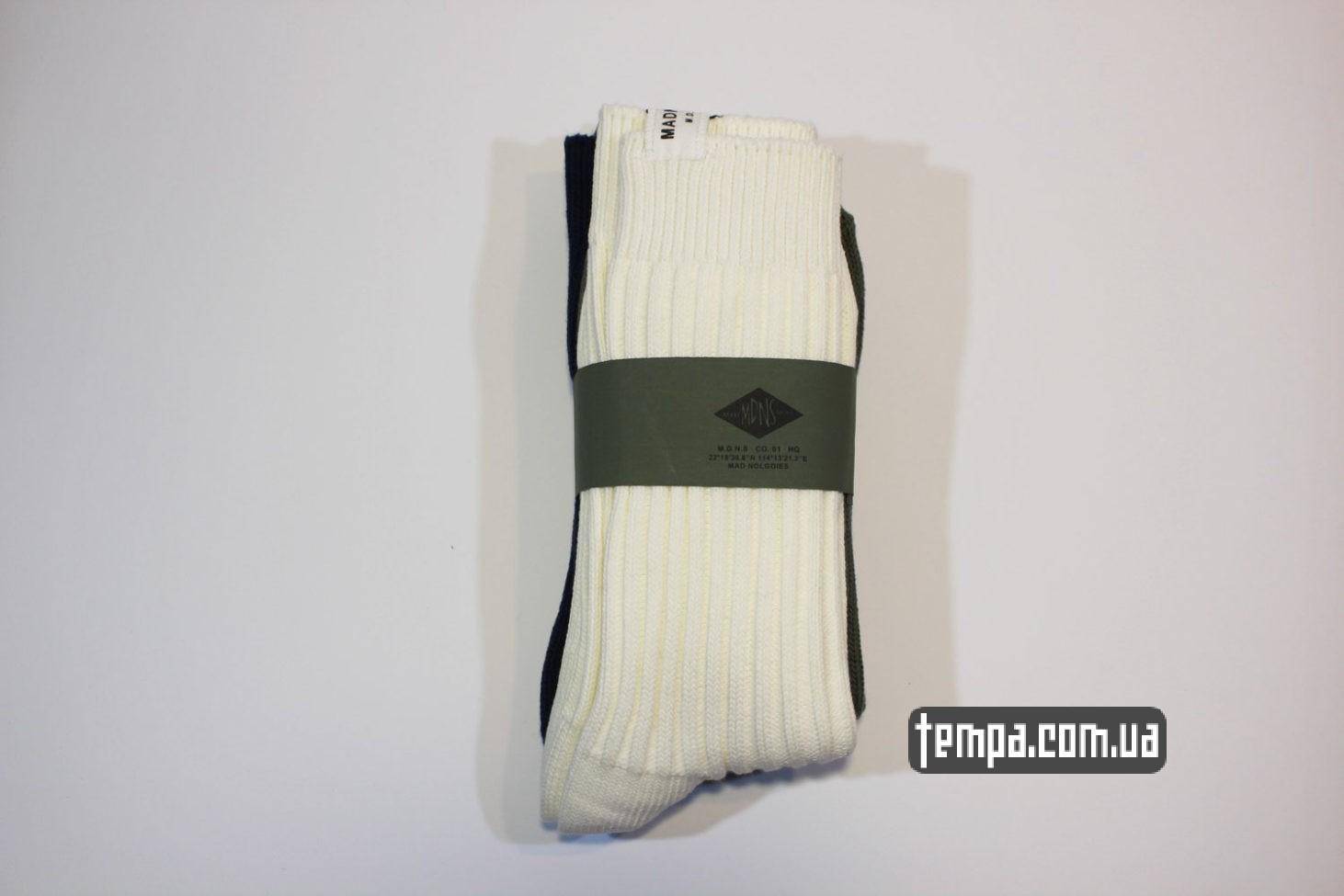 mdns socks купить высолкие носки MADENESS зеленые бежевые синие