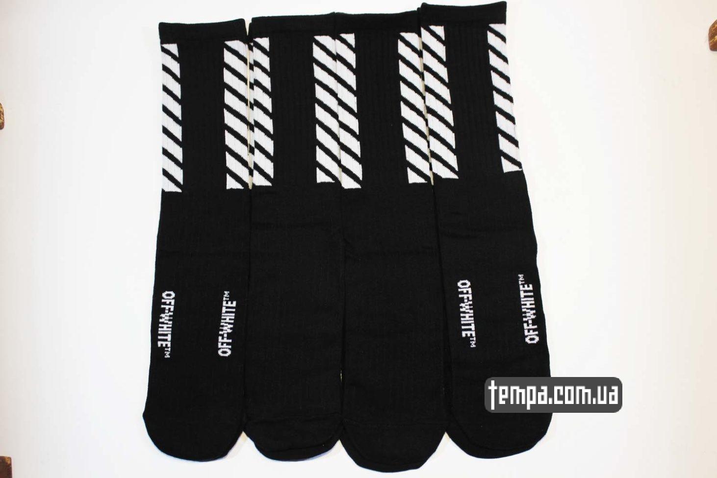 носки магазин купить носки высокие OFF WHITE черные купить