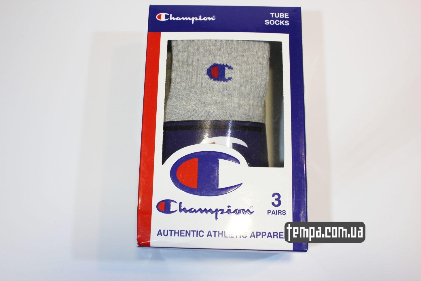 ноские средние champion серые tube socks grey