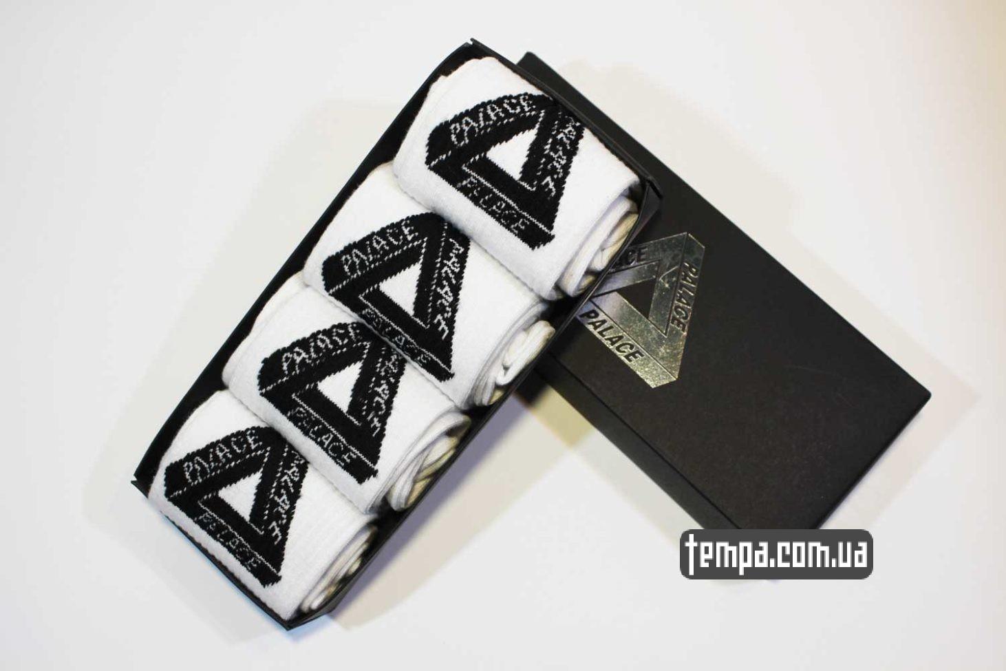 с принтами надписями высокие носки PALACE треугольник купить
