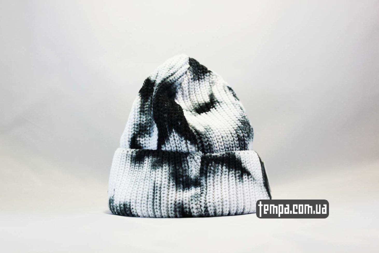 Carhartt USA шапка beanie Carhartt пятнистая черно-белая