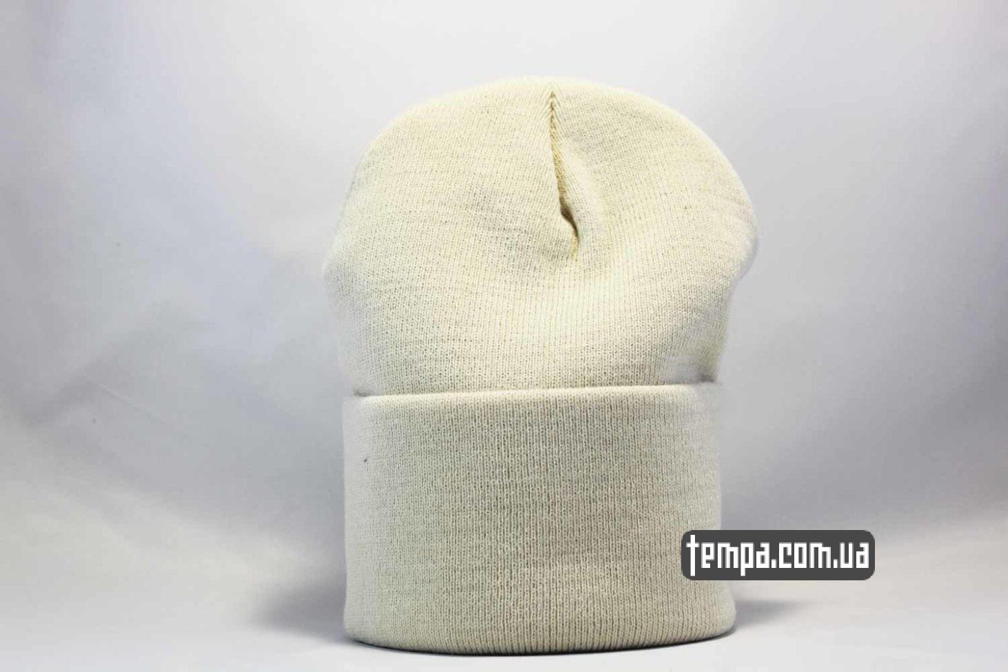 белая одежда бини шапка beanie carhartt white leather кожаная