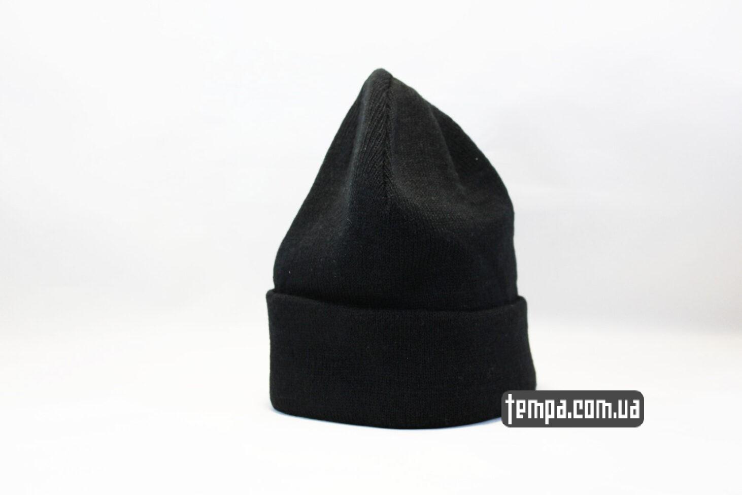 бини шапка beanie черная однотонная без логотипов asos hm