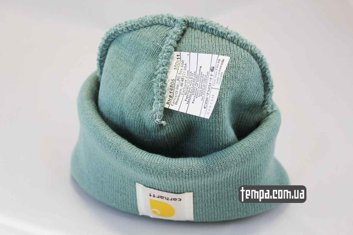 где купить оригинальную одежду carhartt шапка beanie Carhartt зеленая оригинал купить
