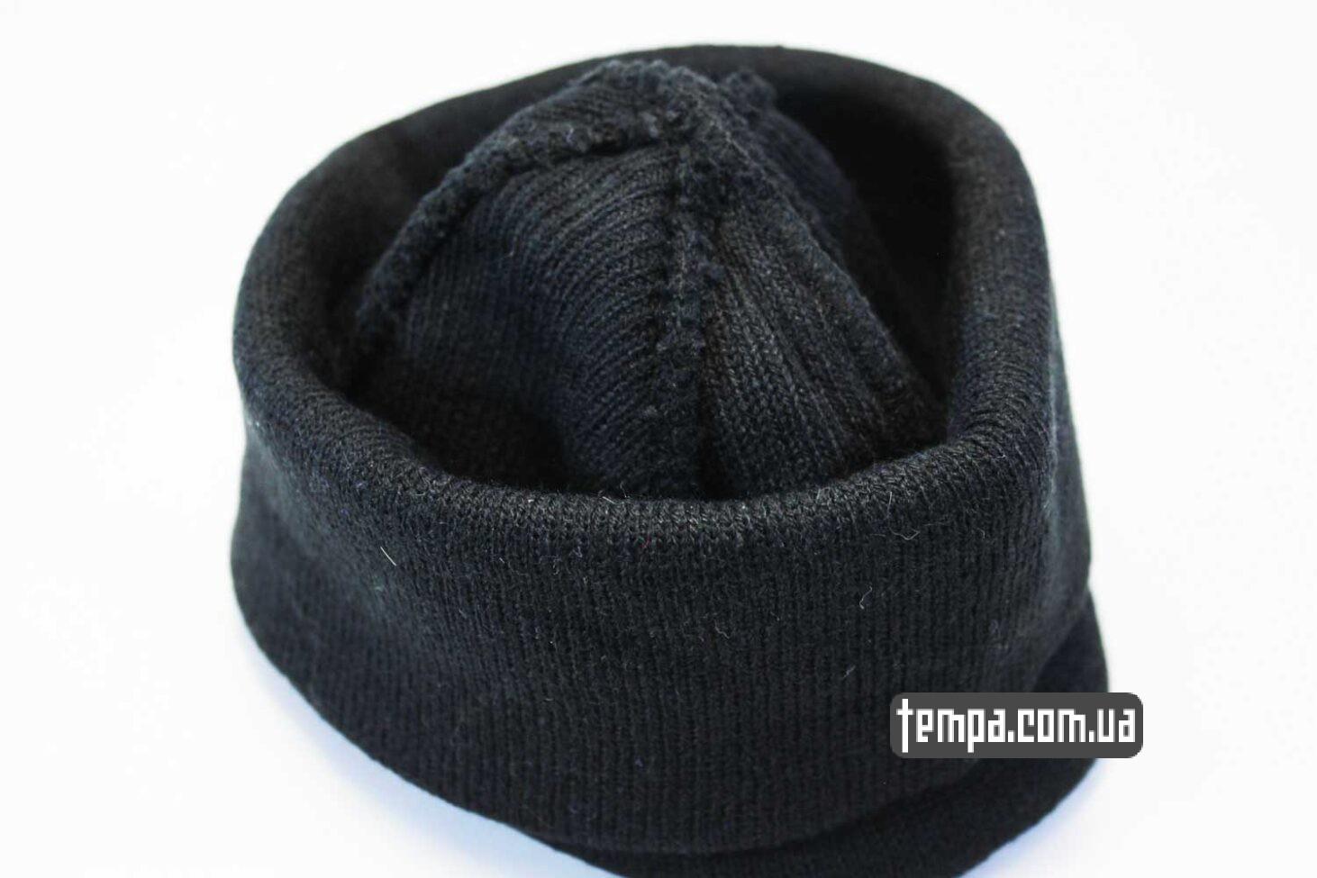 купить заказать оригинал шапка beanie черная однотонная без логотипов asos hm