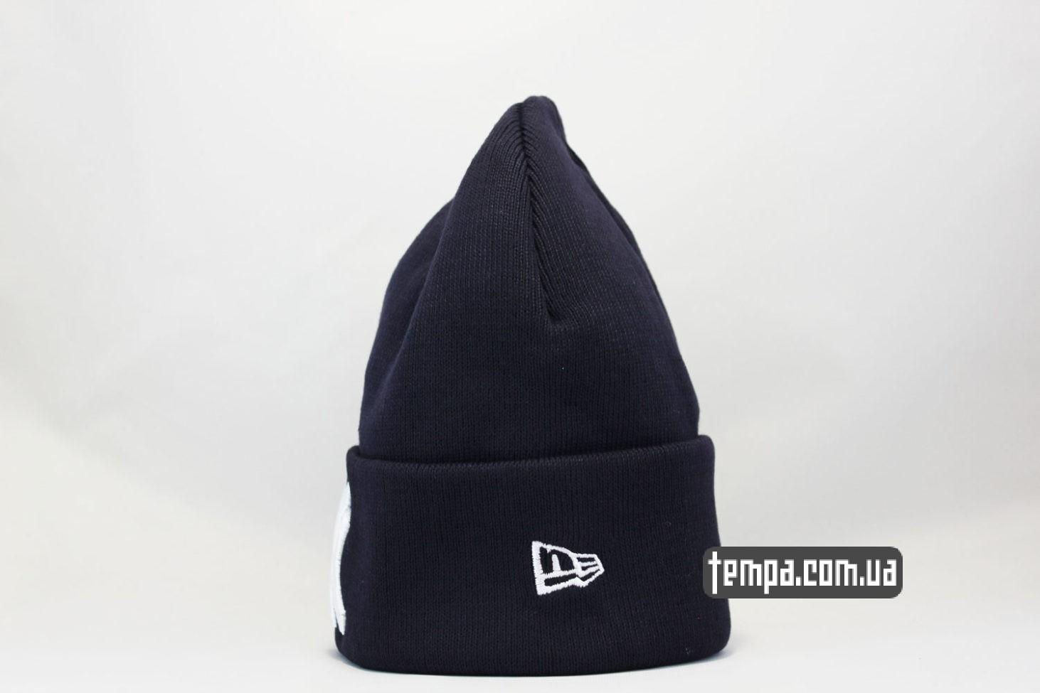 new era магазин купить шапка beanie New York Yankees New Era темно-синяя