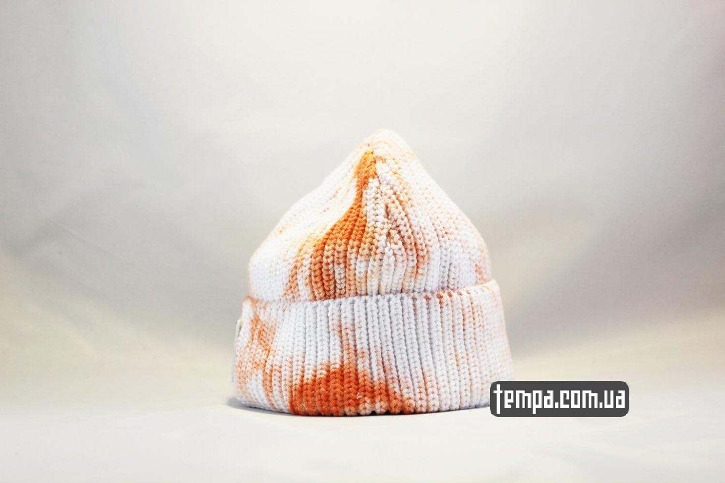 пятнистая одежда короткая шапка beanie Carhartt пятнистая оранжево-белая