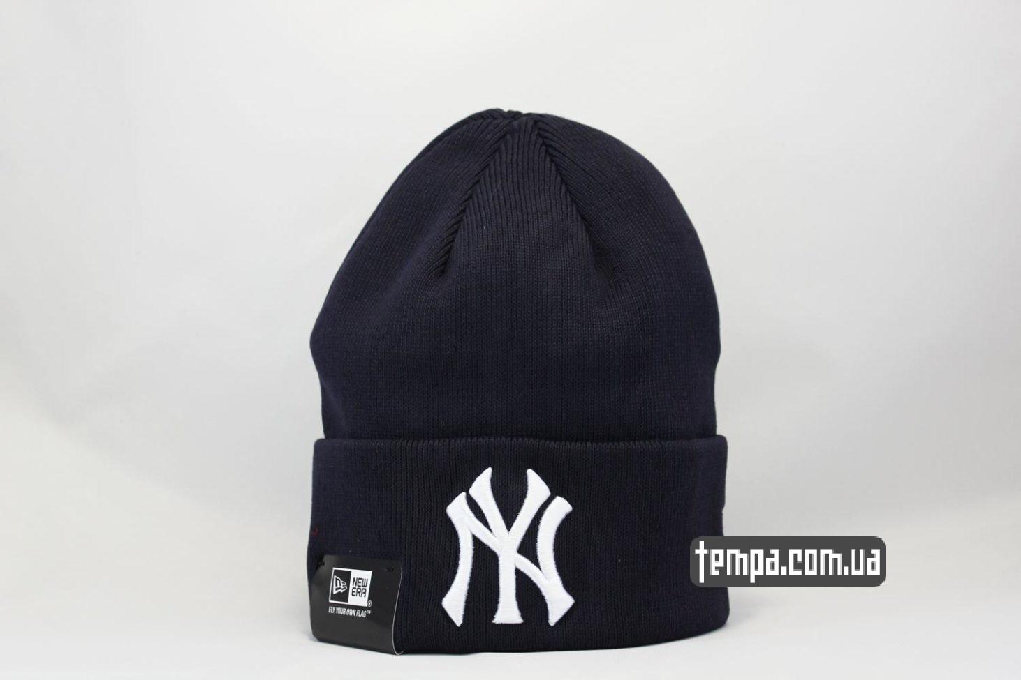шапка beanie New York Yankees New Era темно-синяя