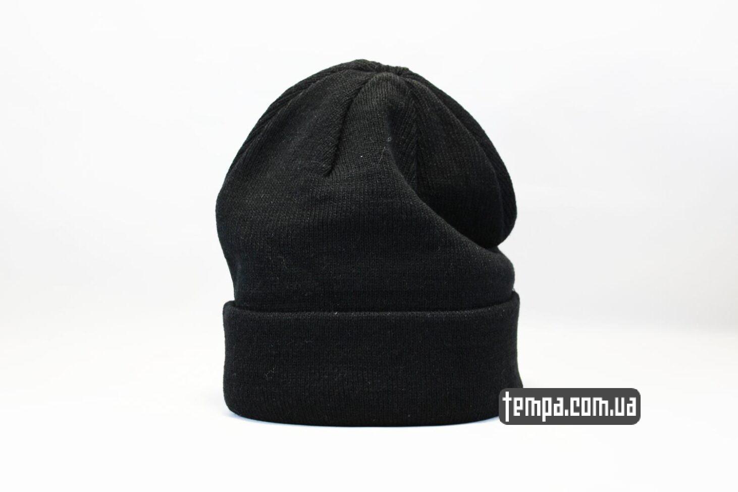 шапка beanie черная однотонная без логотипов asos hm