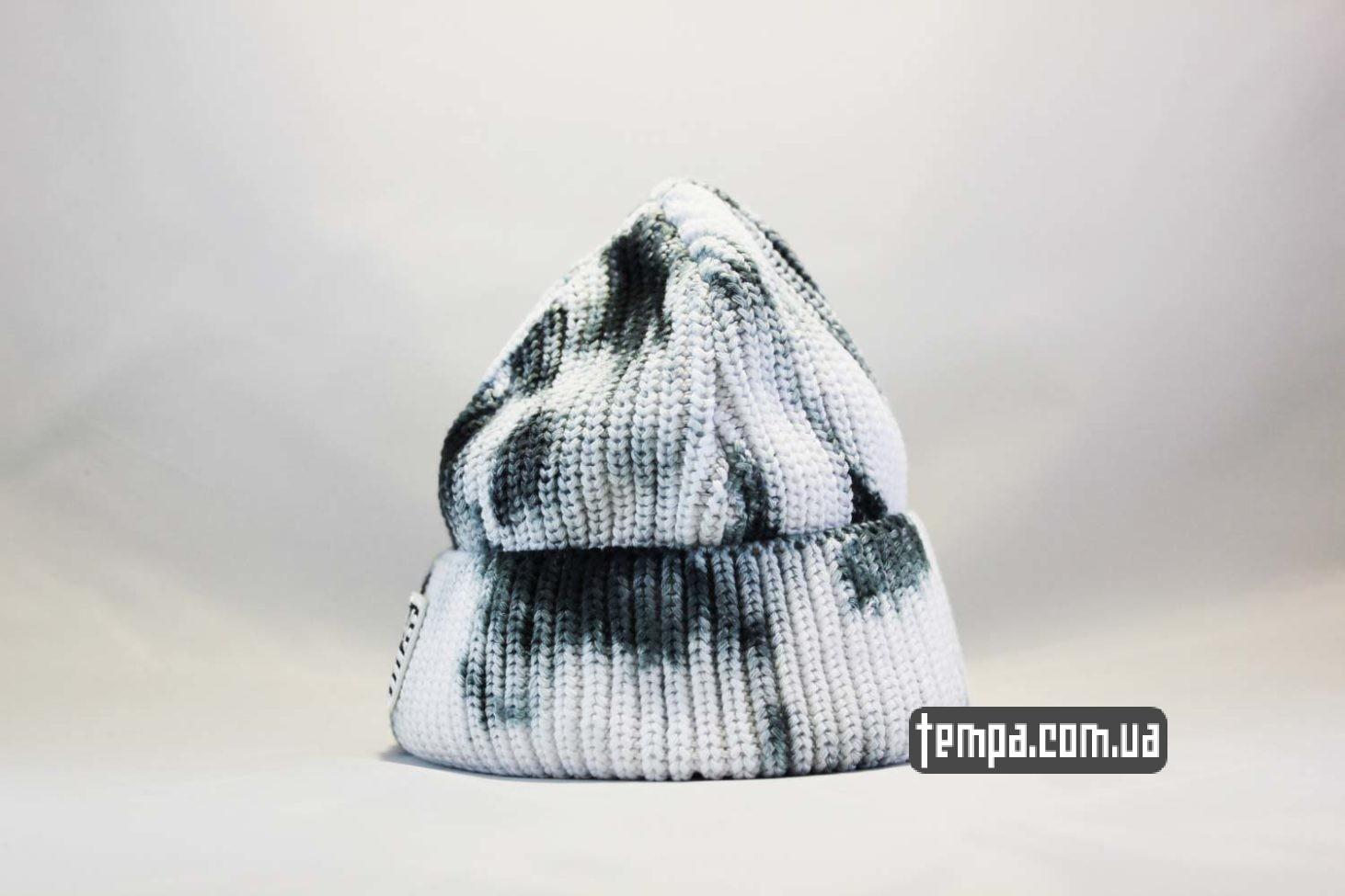 spot шапка beanie Carhartt пятнистая черно-белая