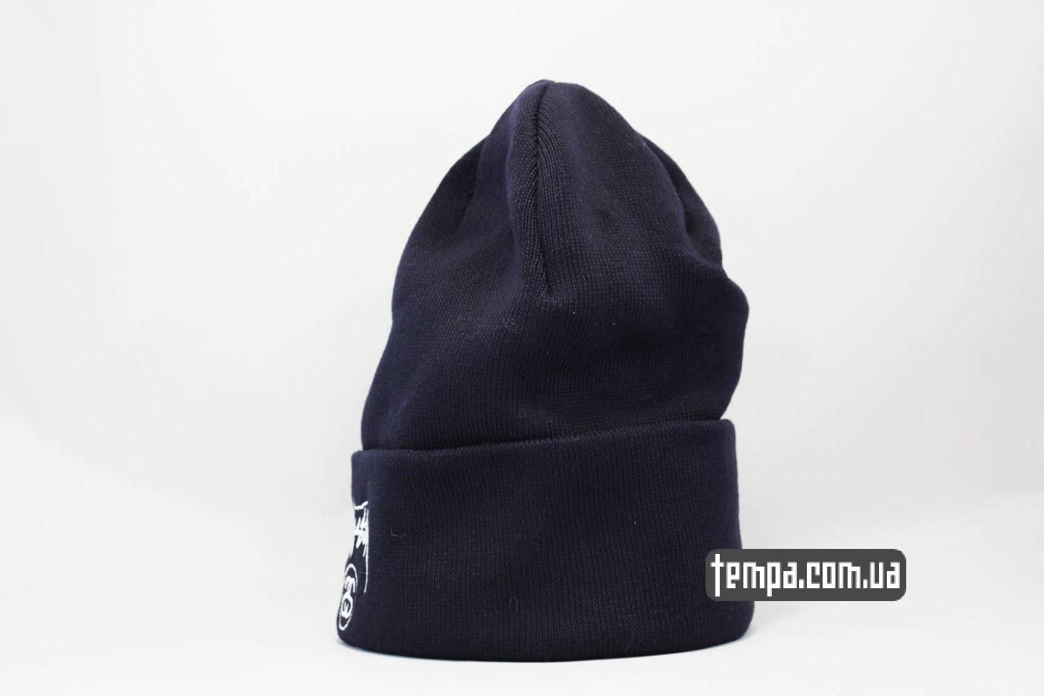 стасси оригинал купить шапка beanie STUSSY синяя купить Украина