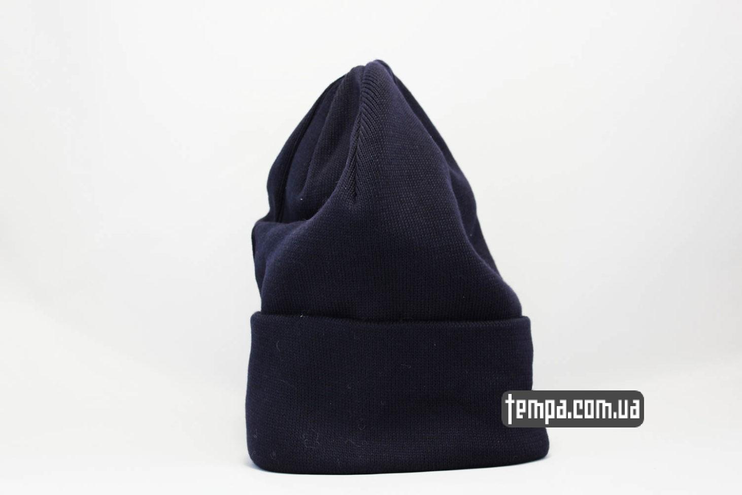 теплая зимняя бини шапка beanie STUSSY синяя купить Украина