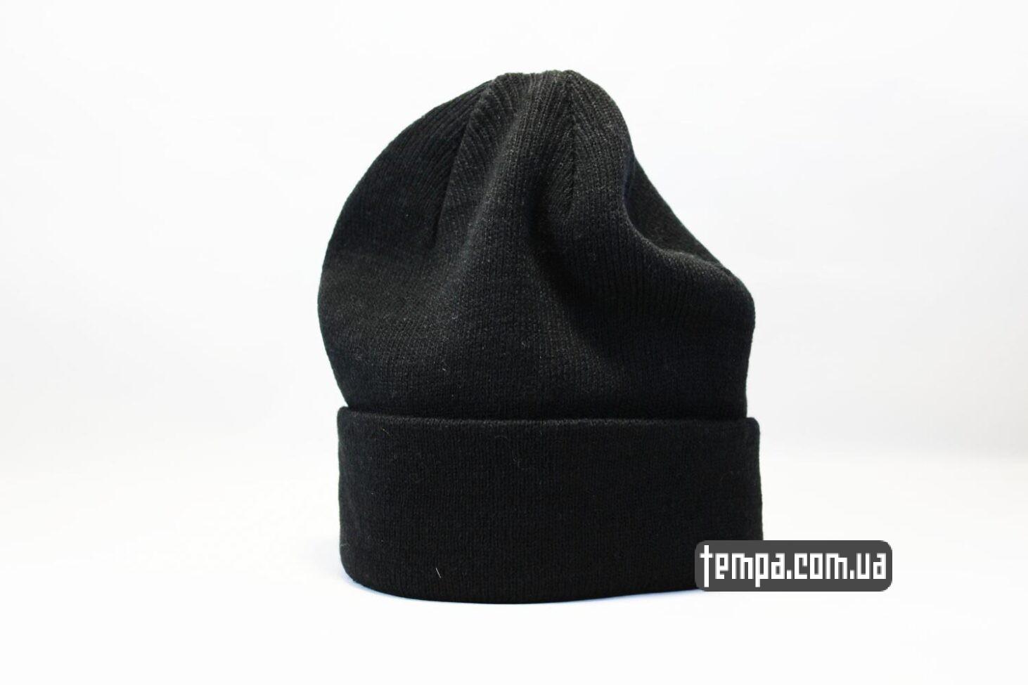 Украина купить шапка beanie черная однотонная без логотипов asos hm