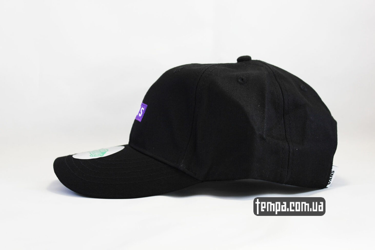 где купить оригинальный vans кепка VANS черная бейсболка с Фиолетовым логотипом