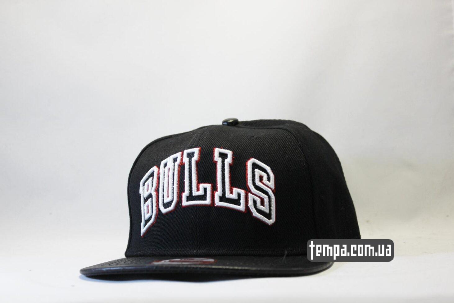кепка snapback BULLS Chicago NEW ERA кожаный козырек