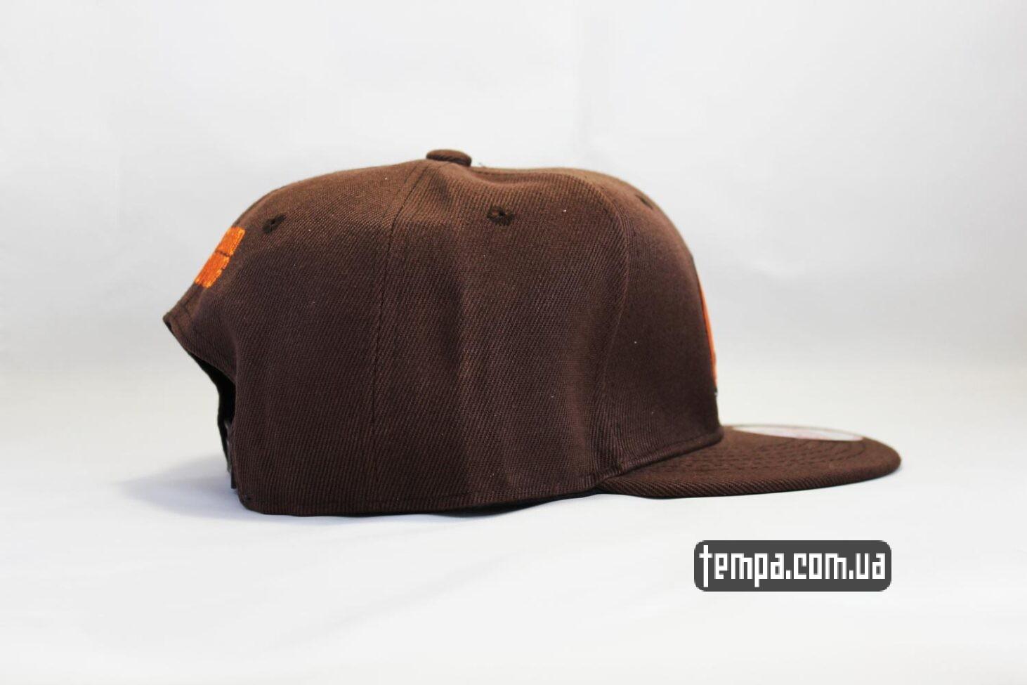 коричневая бейсболка кепка Snapback American Football Регби New Era купить Украина