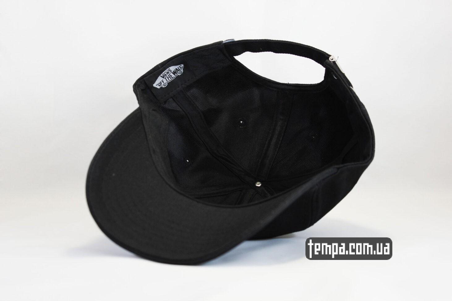 магазин купить кепка VANS черная бейсболка с Фиолетовым логотипом