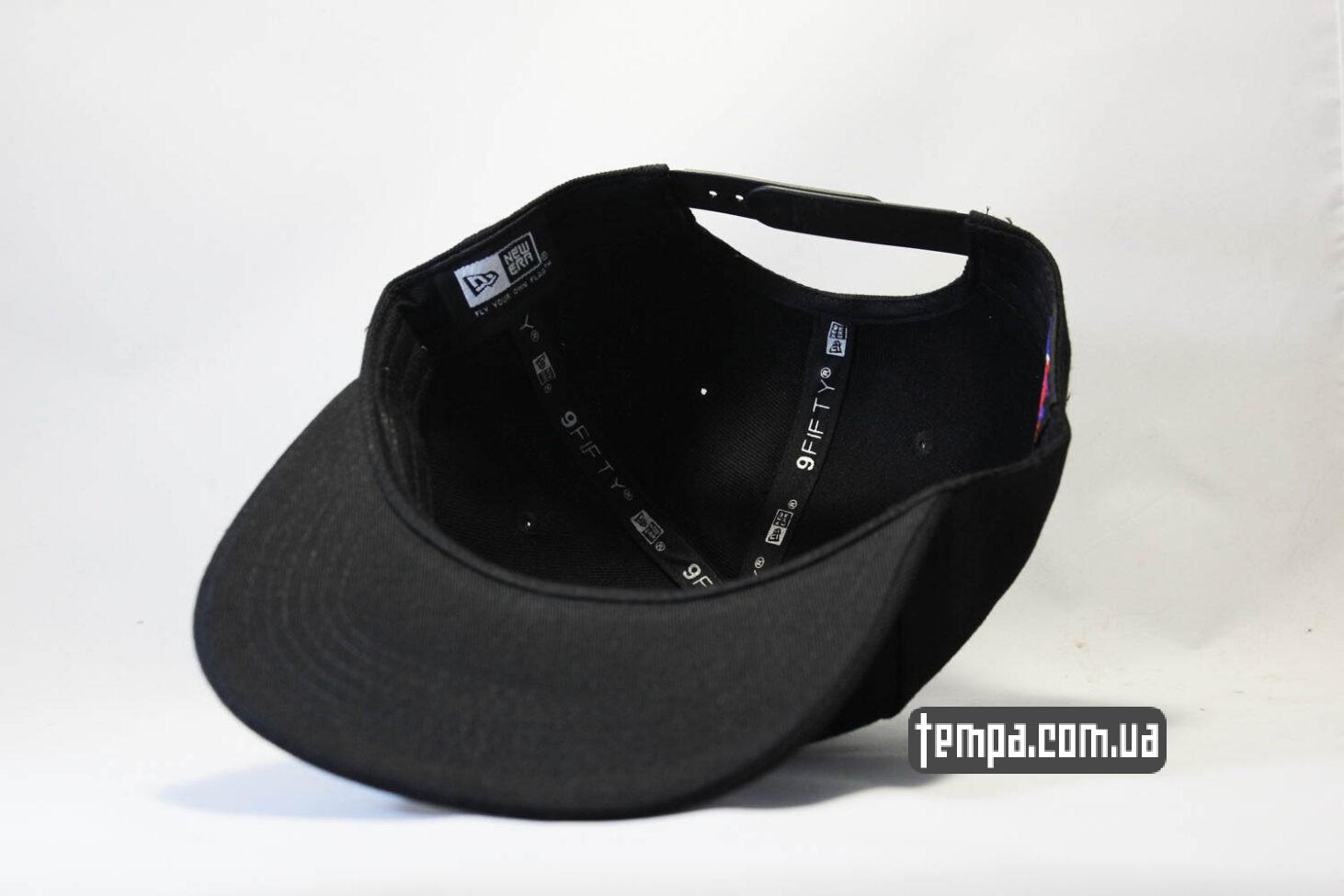 прямой ровный козырек кепка snapback SOX new era 9fifty black черная
