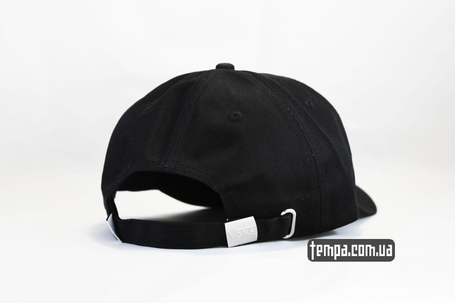 snapback кепка VANS black логотип сбоку черная бейсболка