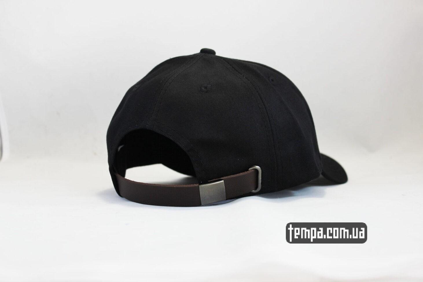 snapback кепка бейсболка Champion черная логотип сбоку-2