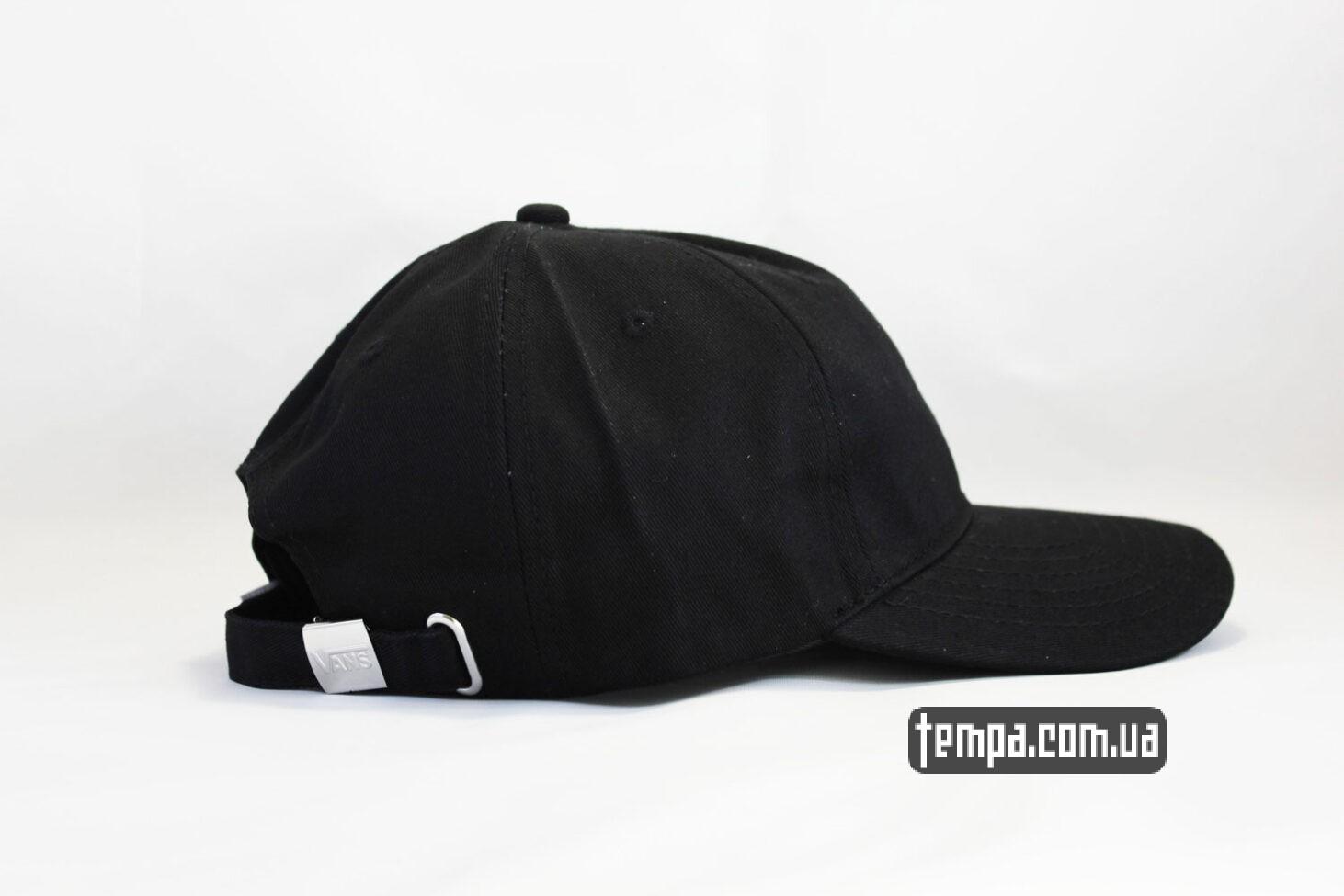 снепбек купить кепка VANS black логотип сбоку черная бейсболка