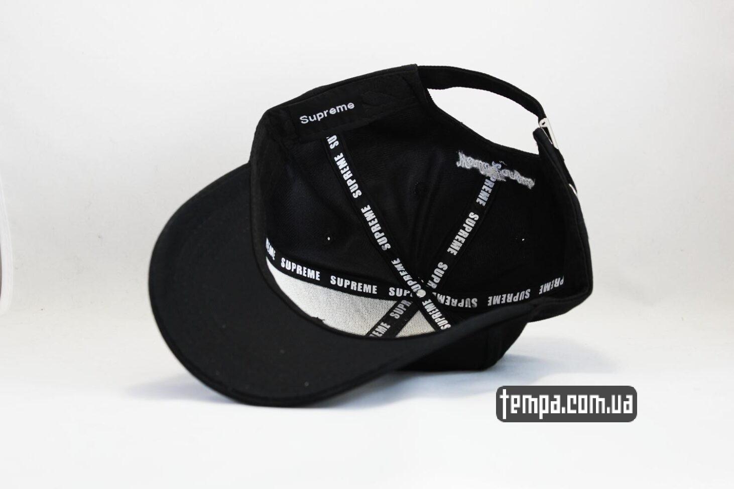 суприм черная кепка бейсболка supreme черный логотип суприм украина