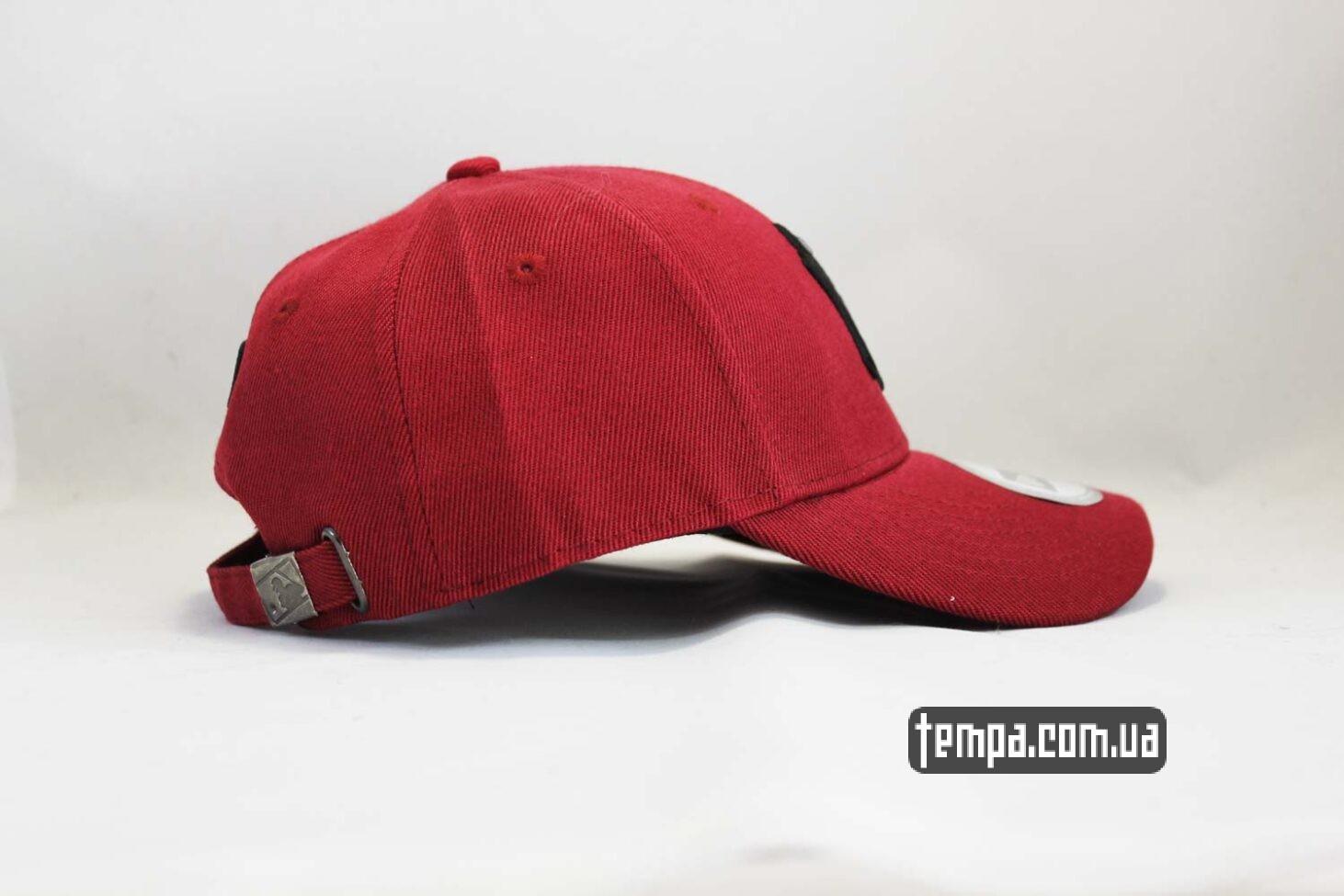 темно-бордовая кепка бейсболка Янки Yankees New York New Era красая