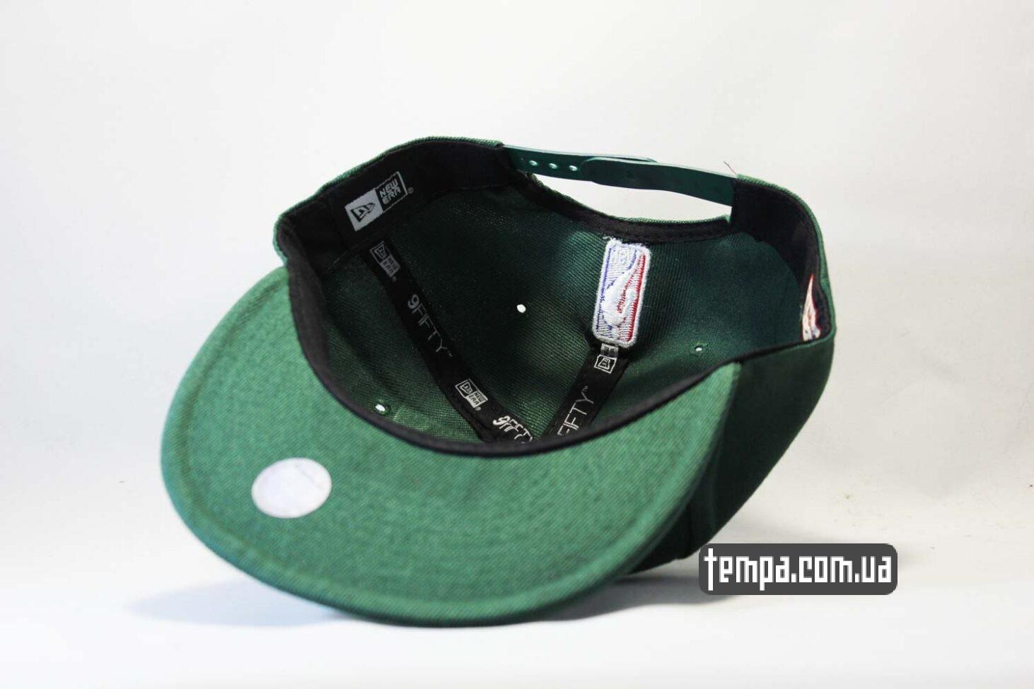 темно-зеленая кепка snapback Deer green New Era зелена baseball
