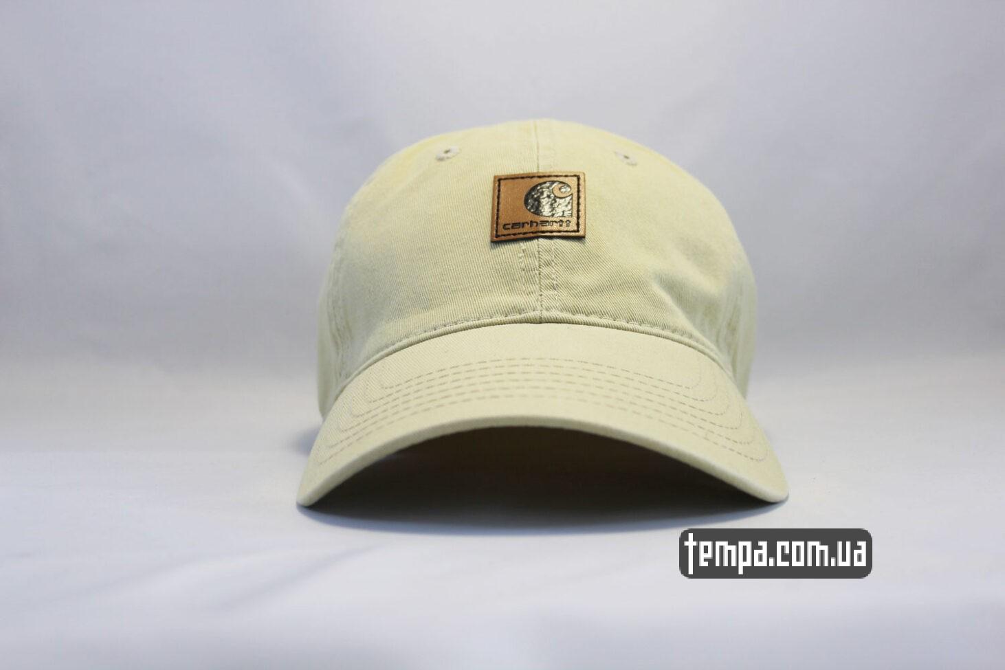 бежевая бейсболка кепка Carhartt круглый козырек