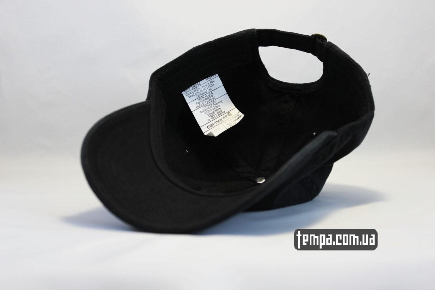 carhartt USA кепка бейсболка carhartt кожаный логтип черная