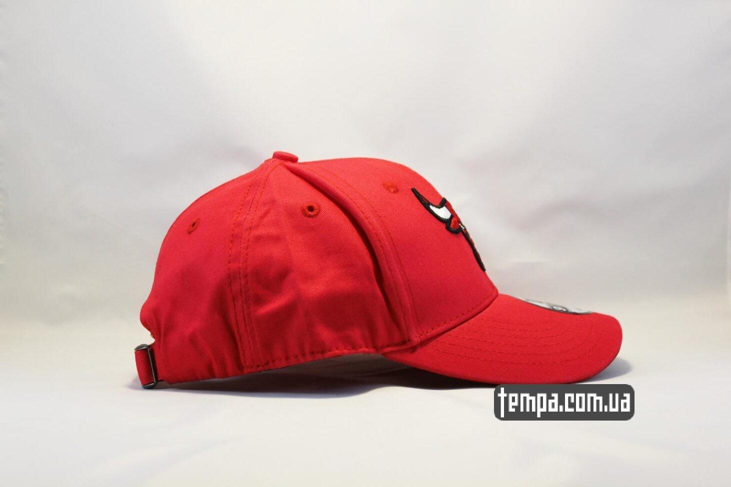 чикаго буллс украина кепка бейсболка Chicago Bulls New Era 9TWENTY красная с быком