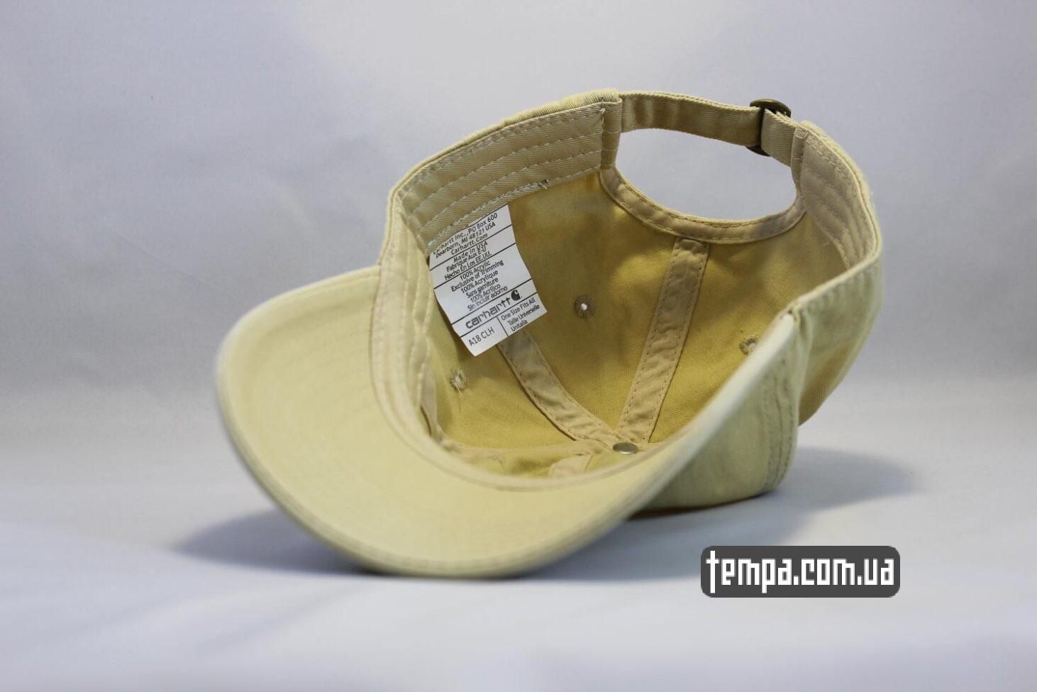 где купить оригинальный карахарт бежевая бейсболка кепка Carhartt круглый козырек
