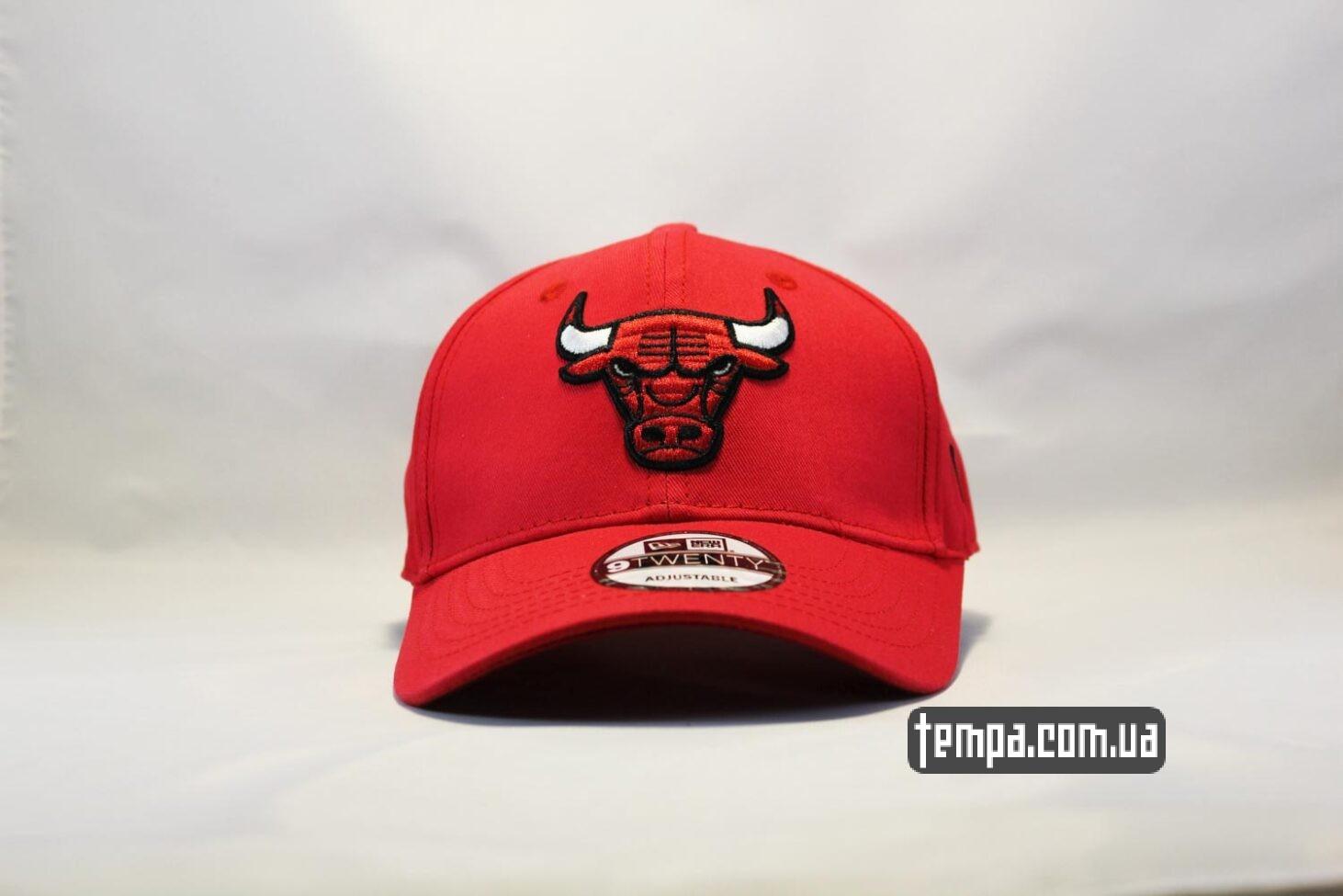 кепка бейсболка Chicago Bulls New Era 9TWENTY красная с быком