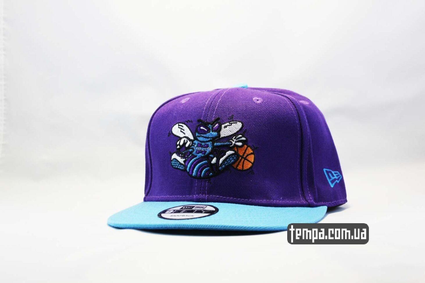 кепка snapback Hornets фиолетовя с осой New Era купить