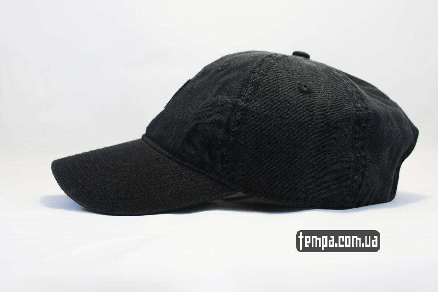 круглый козырек кепка бейсболка carhartt кожаный логтип черная
