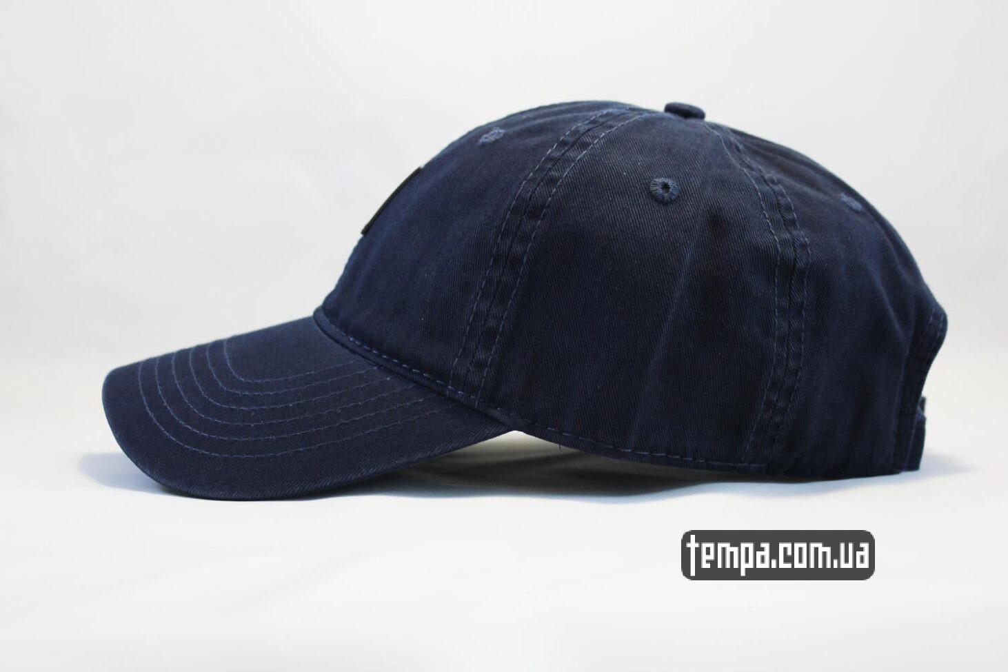 снепбеки купить Украина кепка бейсболка Carhartt синяя кожаный логотип