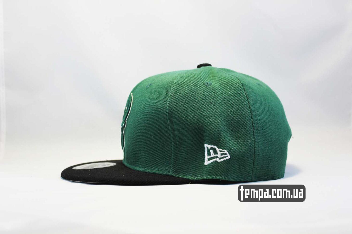 зеленая бейсболка Snapback Boston Baseball с оленем New Era 9fifty бейсболка