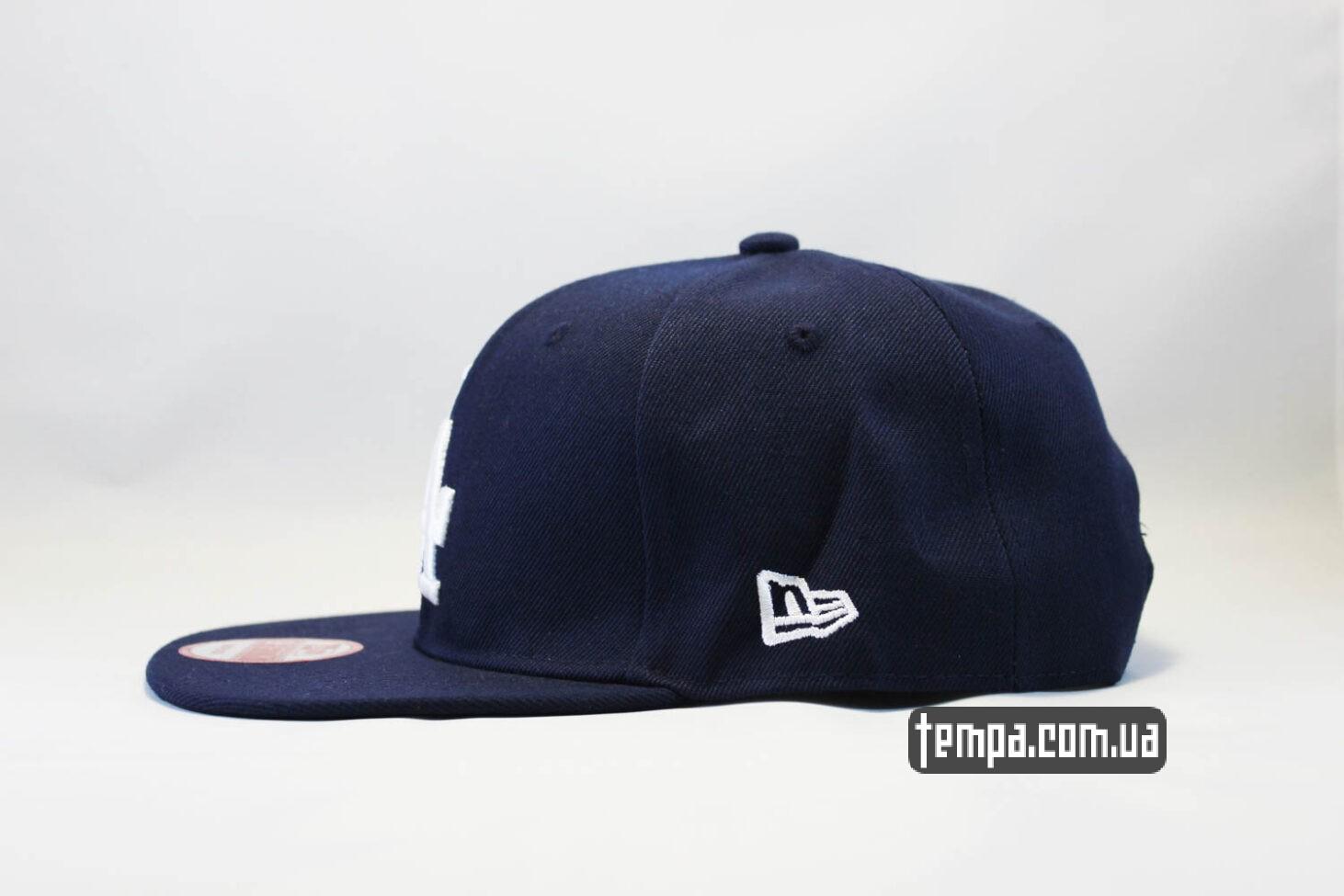 бейсболки кепка snapback LA Los Angeles New Era синяя_
