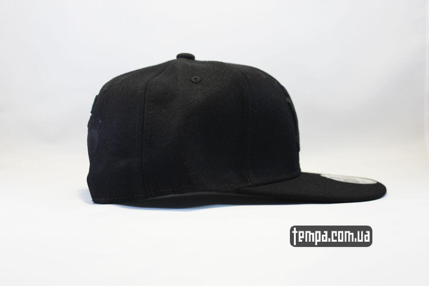 black on black бейсболка кепка Snapback New Era NYC New York черная на черном black