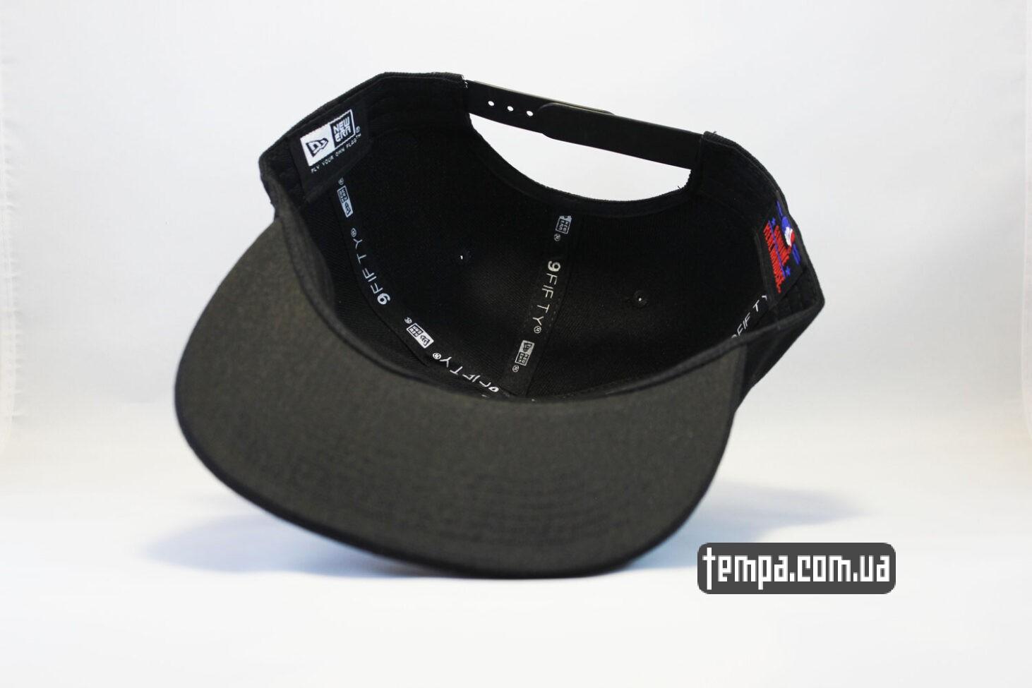 магазин оригинальной одеждый купить кепка snapback LA Los Angeles New Era 9fifty черная на черном