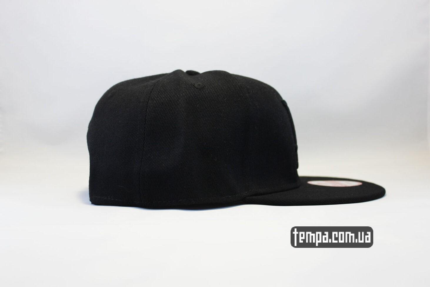 реперка реперская бейсболка кепка snapback LA Los Angeles New Era 9fifty черная на черном
