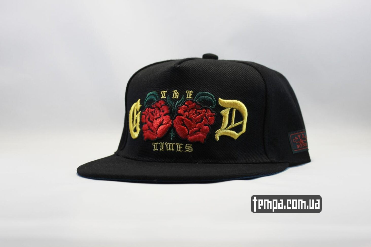 кепка snapback the good times с розами cayler and sons