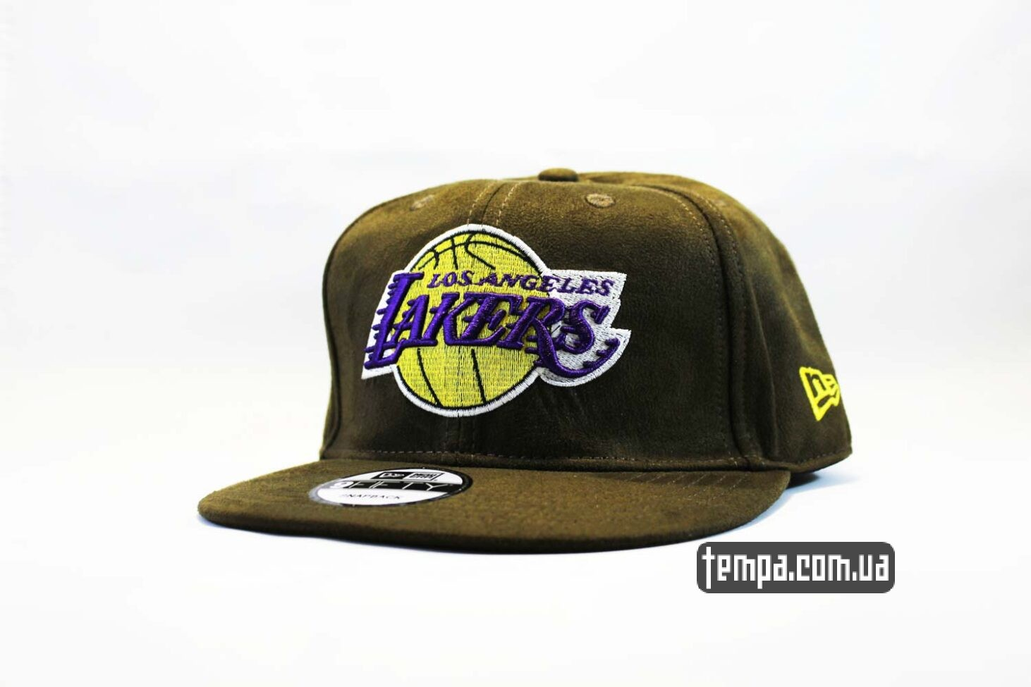 кепка snapback Lakers New Era MBA AND1 зеленая замшевая