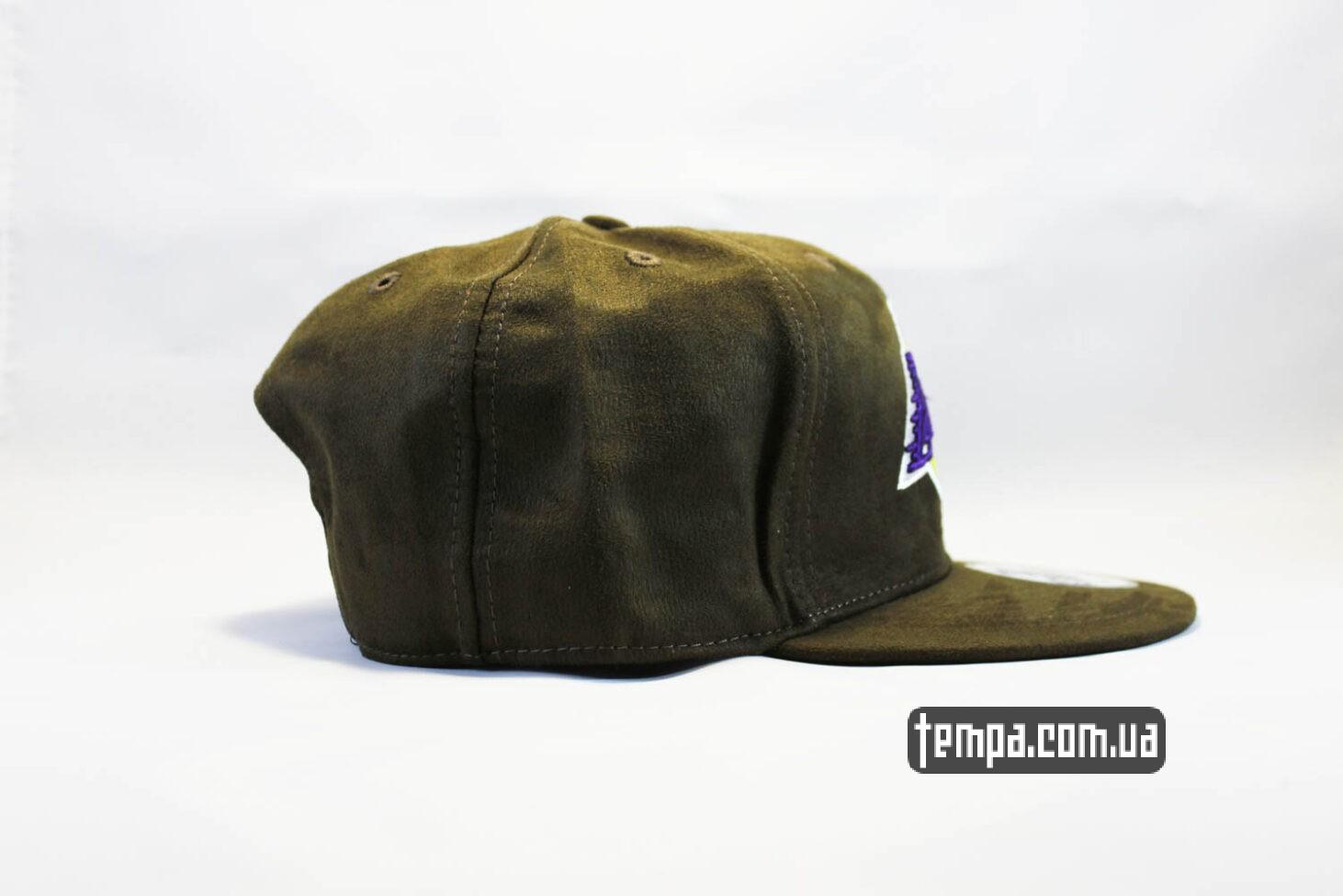 лейкерс одежда баскетбол кепка snapback Lakers New Era MBA AND1 зеленая замшевая