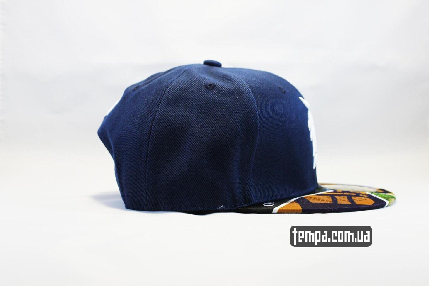 разноцветный козырек кепка snapback Detroit синяя NewEra
