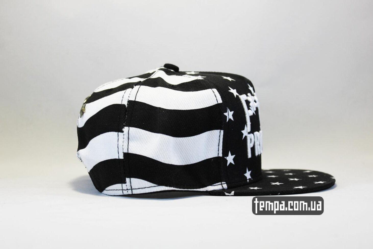 бейсболка черная и белая кепка snapback Fucking Problems США с американский флагом Cayler and Sons