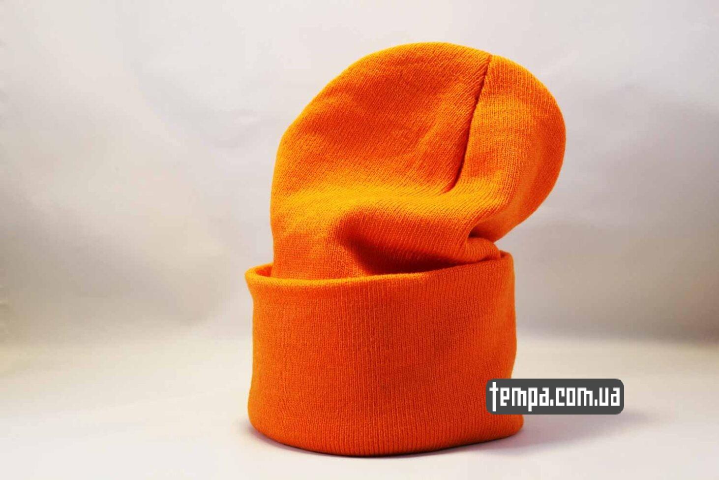 бини магазин шапка beanie Aape оранжевая яркая купить Украина